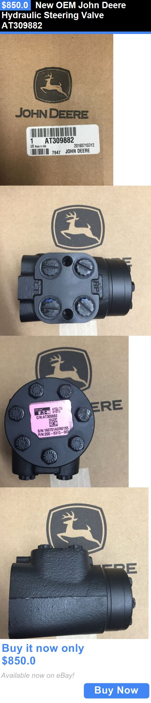 heavy equipment: New Oem John Deere Hydraulic Steering Valve At309882 BUY IT NOW ONLY: $850.0