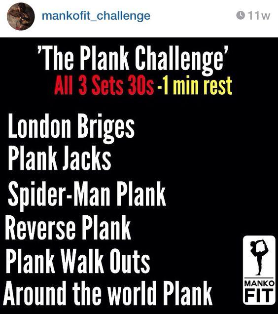 The Plank Challenge | Mankofit
