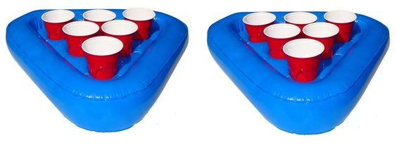 Floating Beer Pong Raft Set