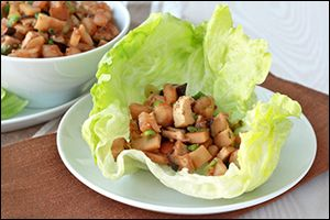 Hungry Girl 39 S Mega Chicken Shrimp Lettuce Wrap Platter Recipes Healthy Food That Looks Good