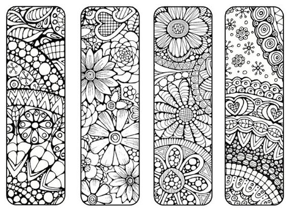 Bookmarks to Print and Color Bookmark by LittleShopTreasures: