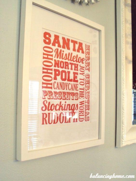 Printable Christmas Subway Art...