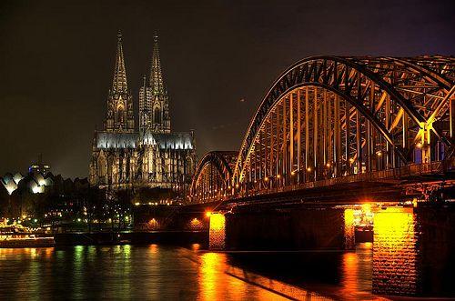 Hohenzollernbrücke Köln, Deutschland