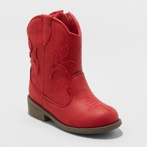 red boots for toddler girl