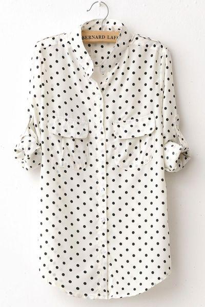 camisa de bolinhas: