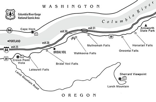 Columbia Columbia river gorge and Waterfalls on Pinterest