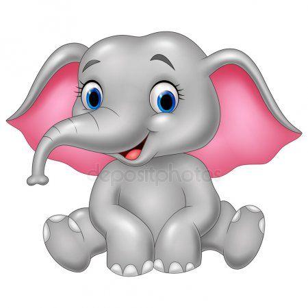 Elefante Divertidos Dibujos Animados Funny Elephant Watercolor Elephant Elephant