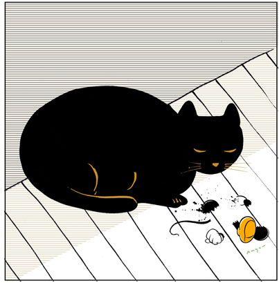 made by: Bill Mayer , illustration (Black cat)