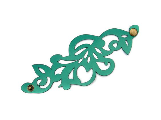 Leather Bracelets Laser Cut Leather And Swirl Design On