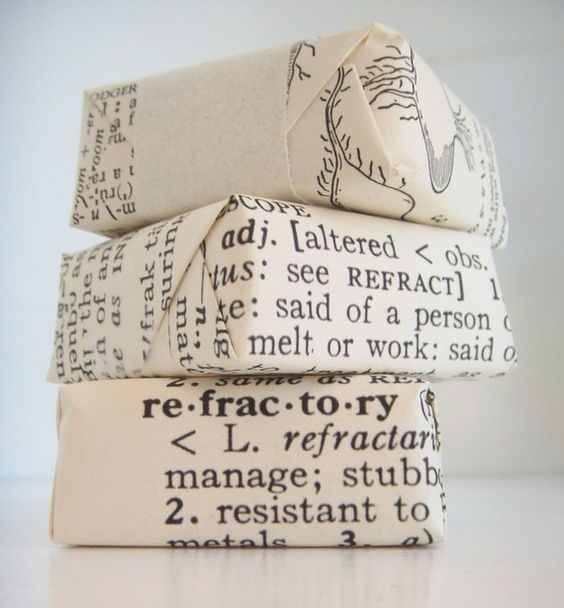soap packaging - in dictionary pages !!