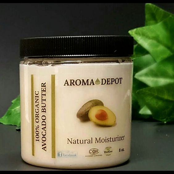 Avocado Organic Pure Butter 100% Raw Natural Premium Quality 8 oz Cold Pressed  #AromaDepot