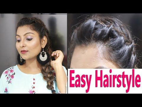 Quick And Easy Hairstyle In 3 Mins Diwali Special Rose Tamil Beauty Makeup Youtube Easy Hairstyles Hairstyle Long Face Hairstyles