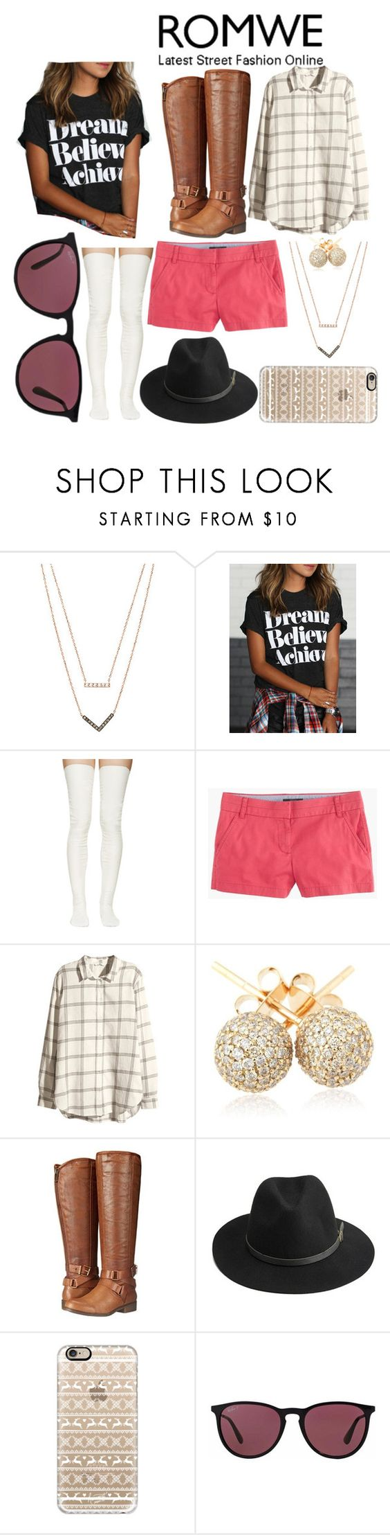 """ROMWE contest entry"" by pmolly ❤ liked on Polyvore featuring Michael Kors, Sacai Luck, J.Crew, H&M, Loushelou, Madden Girl, BeckSöndergaard, Casetify and Ray-Ban"