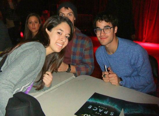 Editorial Asst. Kaitlin with Darren Criss!