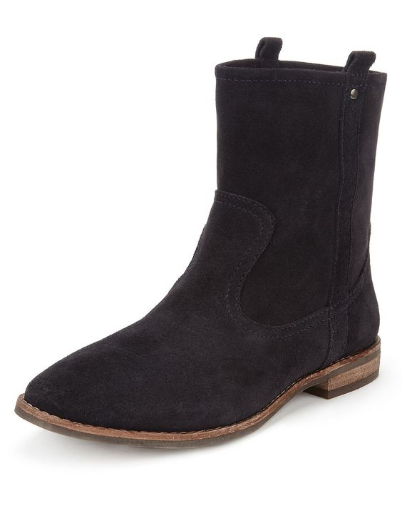 Suede Ankle High Boots with Insolia Flex® | M&S