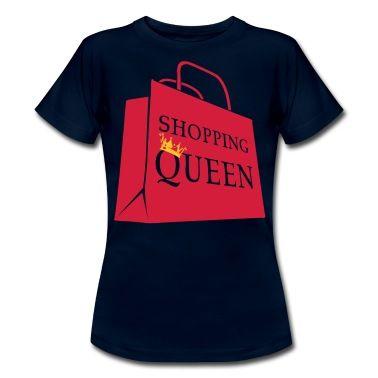 Für jede Shopping Queen eine Einkaufstasche fürs Shopping mit Aufschrift und Krone.