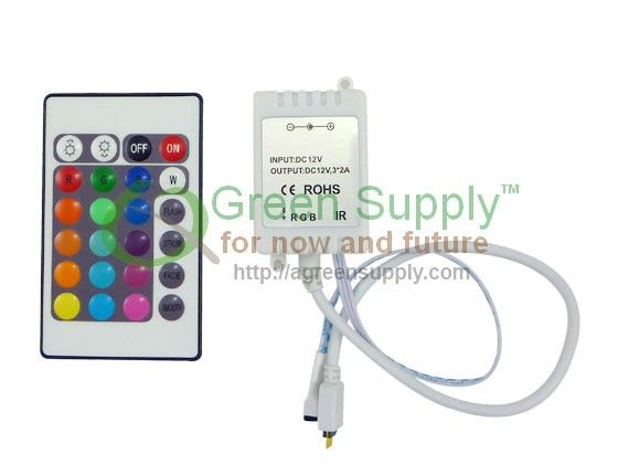 Green Supply - for now and future - IR Receiver Controller for Color Changing Flexible LED Strip Light Kit (16.4ft, Waterproof) $9.95