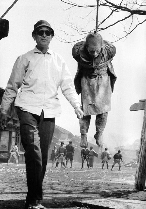 Akira Kurosawa   On the set of Yojimbo (1961).: