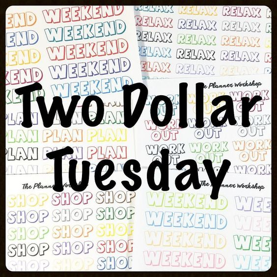 I have brand new cartoon word stickers and they're all on sale for two dollars! Today only! No code needed. by theplannerworkshop