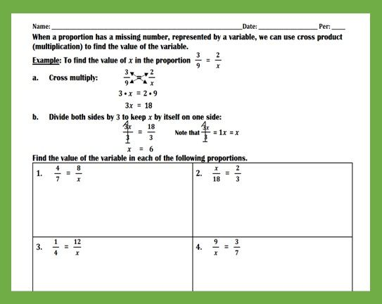 Solving Proportions Practice Worksheet Teaching And Practice Practices Worksheets Solving Proportions English Writing Skills Solving proportions worksheets