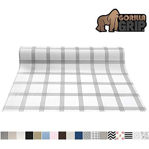 Gorilla Grip Original Smooth Top Slip Resistant Drawer And Shelf Liner Non Adhesive Roll 17 5 In 2020 Drawer And Shelf Liners Kitchen Cabinet Shelves Kitchen Drawers