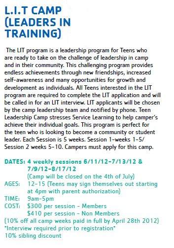 L.I.T Camp (Leaders in Training)