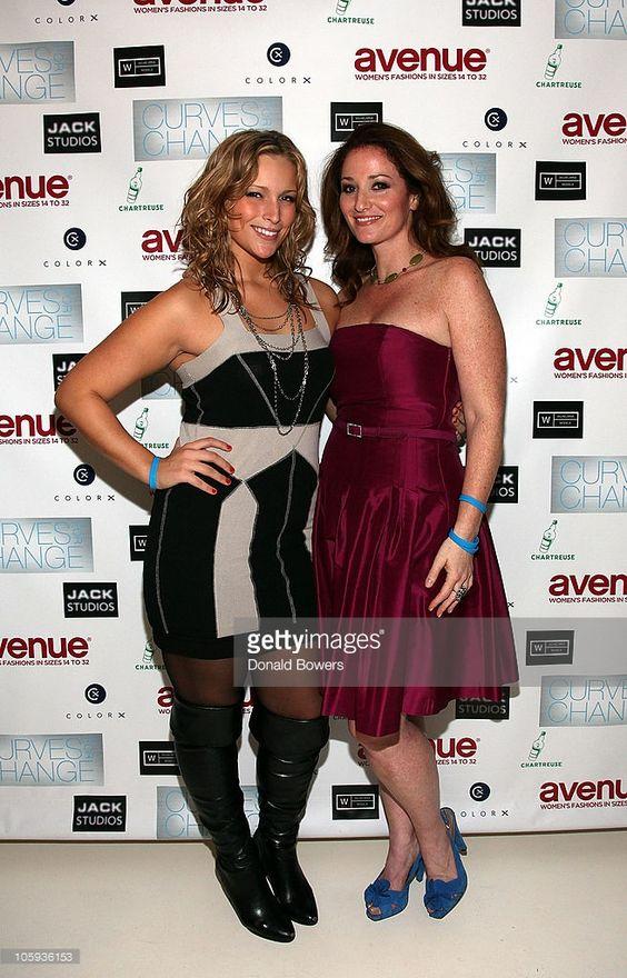 Lizzie Miller and Bernadett Vajda attend The Models of Wilhelmina Curve Present 'Curves for Change' at Jack Studios on October 21, 2010 in New York City.