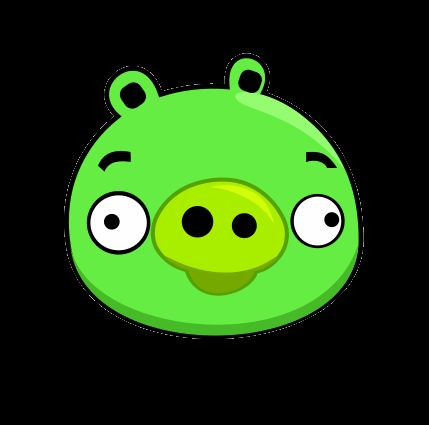 A pig bad piggies pinterest pigs green and templates for Angry bird pig template