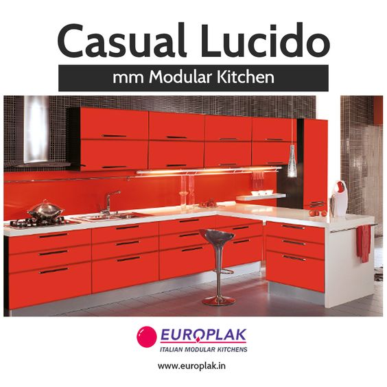 Casual Lucido mm Modular Kitchen Check out the largest collection of designs in Modular Kitchen For more details Visit : http://www.europlak.in/ #EuroplakIndia #ModularKitchen #ModularKitchenDesigns #KitchenDesigns