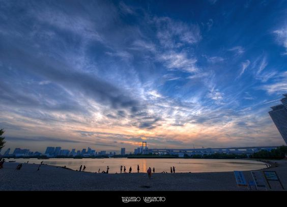 This is the sunset the participants of the Google+ One Year Anniversary Photowalk in Tokyo, saw on Saturday, June 30, 2012. by #TakahiroYamamoto