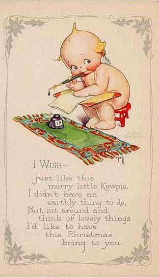 Vintage kewpie card