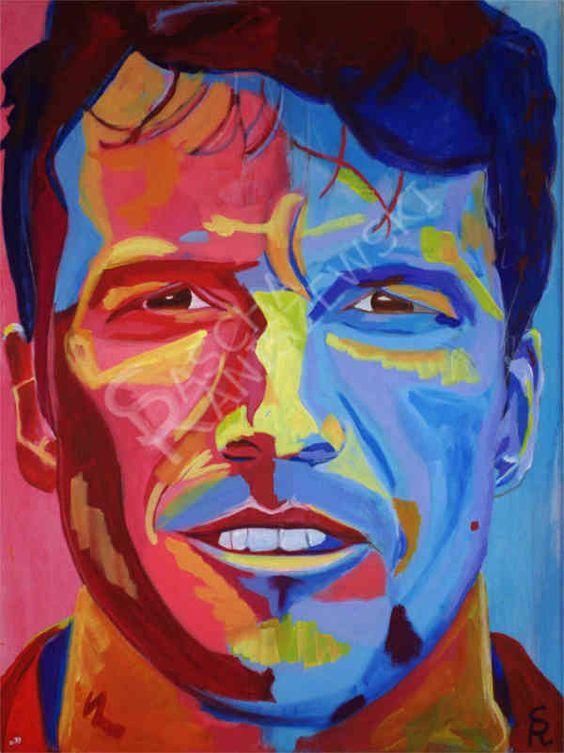 LOTHAR MATTHÄUS Acryl auf Leinwand, 80x60 cm gemalt von Sascha Raniszewski #matthäus #fußball #weltstar #10