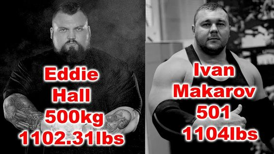 Eddie Hall Deadlift 500kg 1102 31lbs Vs Ivan Makarov Deadlift 501
