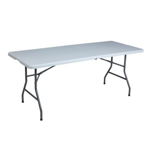 6 Ft Long Folding Table Serving Party Event Presentation Bifold White Table New Ebay Today S The Big Game Hosting A Folding Table Long Folding Table Table
