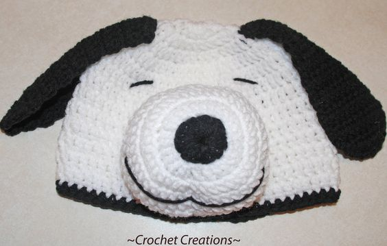 Crochet Snoopy Dog Beanie Hat ~ free pattern Crochet ...