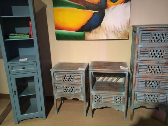 Painted furniture is the new black! #blue
