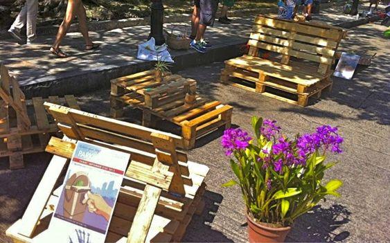 Muebles hechos con paletas de carga de madera recycle for Muebles hechos con paletas de madera