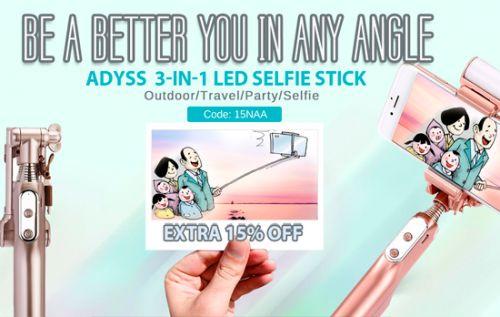 Cupón descuento para palos y accesorios selfie de un 15%