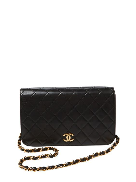 Black Lambskin Full Flap Small by Chanel at Gilt