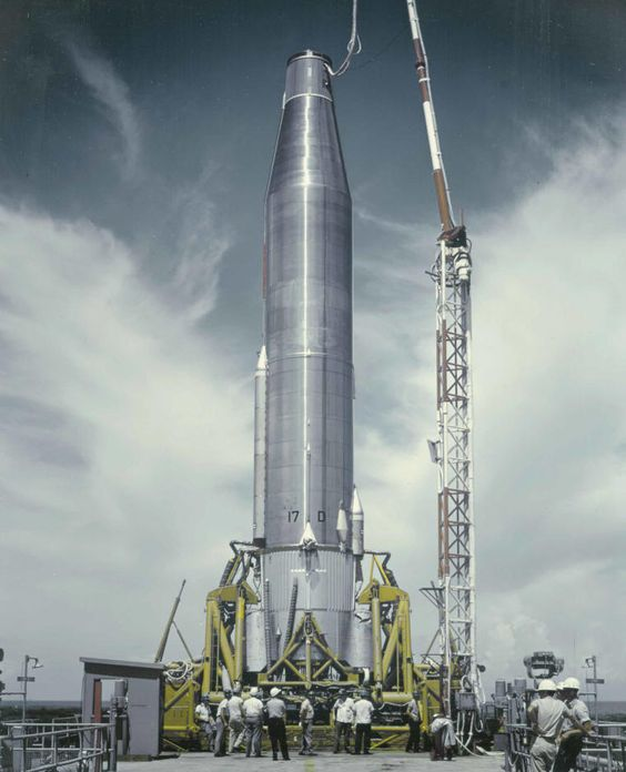 Atlas rocket at Cape Canaveral, September 17, 1959.