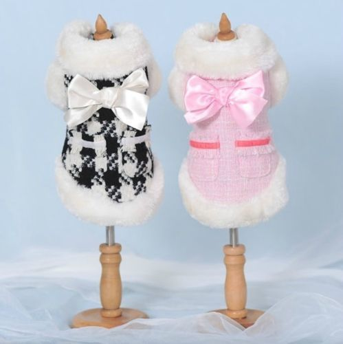 Autumn Winter High Quality Small Dog Clothing Coats Warm Jacket Sweater Clothes   eBay