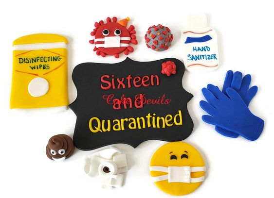 Quarantine Birthday Party Fondant Cake Toppers, virus Cake Decorations, Face Mask cake Toppers, hand sanitizer, Toilet Paper ^^^Click the link above to learn more!^^^ #HandSantizer #FaceMask #fondant #PoopEmoji #QuarantineBirthday #CakeTopper #QuarantineParty #SocialDistancing #ToiletPaper #ZoomParty #DisinfectingWipes #virus #TeenAndQuarantined #fondant #cakedevils
