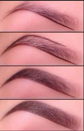 filled in brows