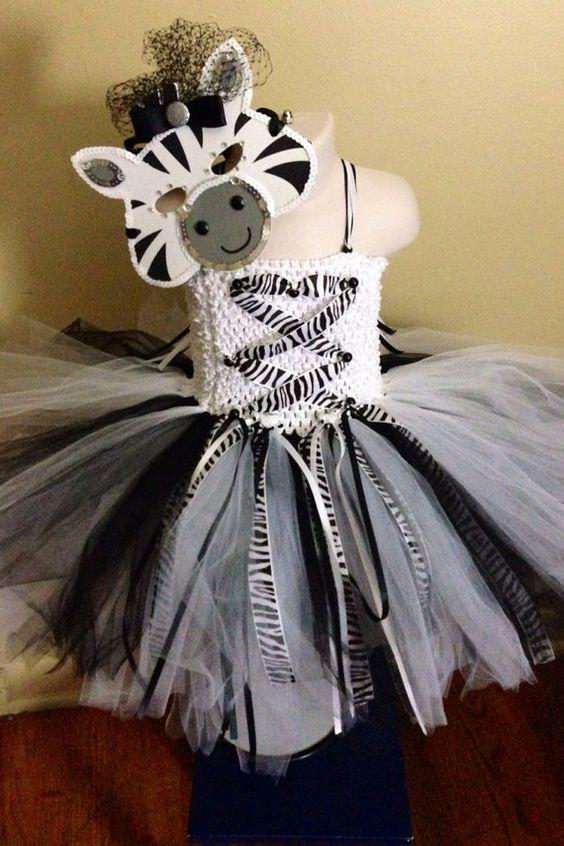Zebra Tutu Costume with Mask  on Etsy, $60.00