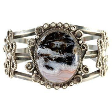 Check out this item at One Kings Lane! Navajo Landscape Agate Bracelet