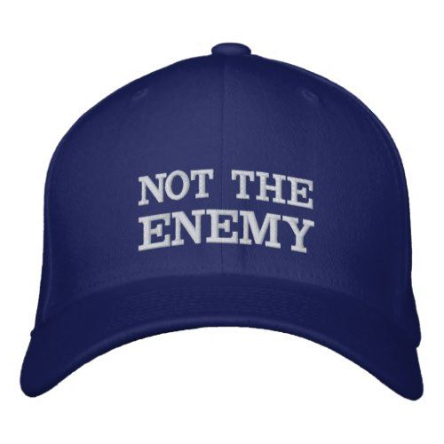 Not The Enemy Wool Flexfit Cap Zazzle Com Embroidered Baseball Caps Flexfit Cap