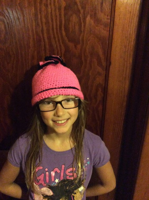 Oh yes I did! My first hat! And one happy 4th grader!
