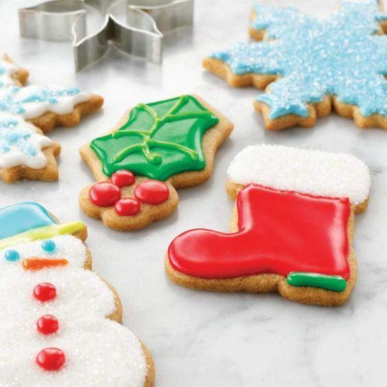 McCormick® Pure Lemon Extract adds just the right hint of lemon flavor to sugar cookies. Cut out with holiday cookie cutters and ice with Colorful Cookie Icing for a festive cookie platter.