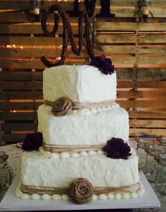 square rustic wedding cakes wedding cake wedding the square shape and 20366