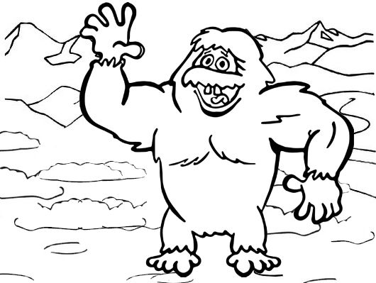 Yeti Disney Coloring Page For Kids Disney Coloring Pages Coloring Pages Lego Movie Coloring Pages